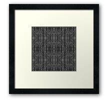 Dark Grunge Texture Framed Print