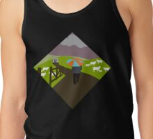 Winter in the village  Tank Top