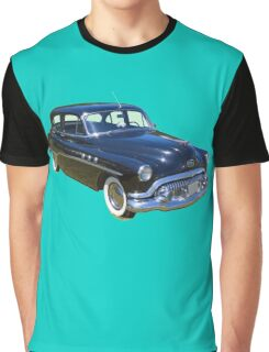 Black 1951 Buick Eight Antique Car Graphic T-Shirt