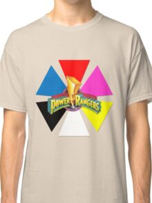 Mighty Morphin Power Rangers - Triangle Wedge Classic T-Shirt