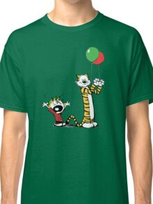 Calvin And Hobbes Balloon Fight Classic T-Shirt