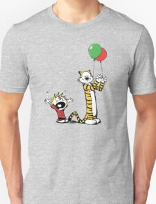Calvin And Hobbes Balloon Fight Unisex T-Shirt