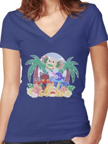Pokemon Sun & Moon - Aloha Women's Fitted V-Neck T-Shirt