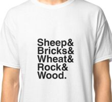 "Helvetica ""&"" - Sheep & Bricks & Wheat & Rock & Wood. Classic T-Shirt"