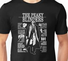 Tommy Shelby Quotes. Peaky Blinders. V2. Unisex T-Shirt