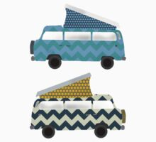 geo campers mint Kids Clothes