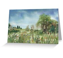 Cattails Landscape Greeting Card