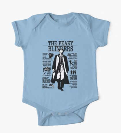 Tommy Shelby Quotes. Peaky Blinders. V2. White. One Piece - Short Sleeve
