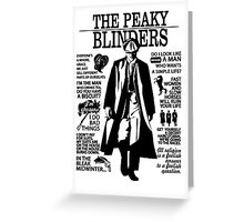 Tommy Shelby Quotes. Peaky Blinders. V2. White. Greeting Card