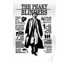 Tommy Shelby Quotes. Peaky Blinders. V2. White. Poster