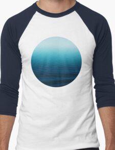Deep Blue Men's Baseball ¾ T-Shirt
