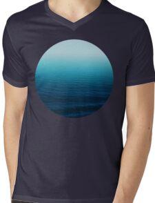 Deep Blue Mens V-Neck T-Shirt