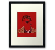 Party in my eye socket Framed Print