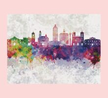 San Antonio skyline in watercolor background One Piece - Long Sleeve