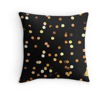 Dots, dots, dots! Abstract light reflection at night Throw Pillow