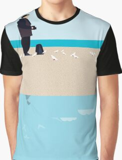 Photographer on the beach Graphic T-Shirt