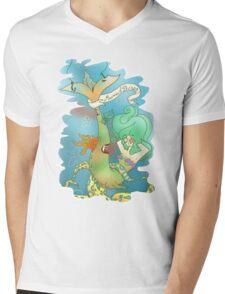Mermaid Strong Mens V-Neck T-Shirt