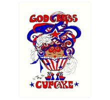 God Bless The Cupcake Art Print