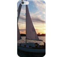 sunset and sailboat iPhone Case/Skin