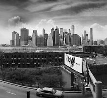 Brooklyn Promenade (BW) by steeber