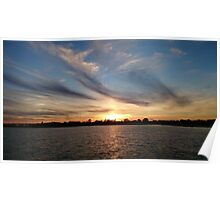 Sunset at Jamaca Bay, Brooklyn, NY Poster
