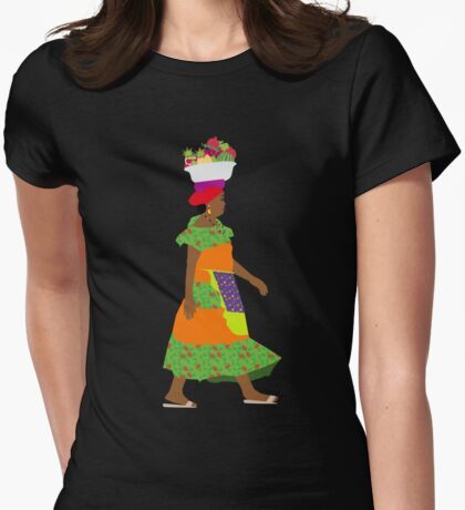 Way to the market Womens Fitted T-Shirt