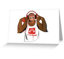Red Monkey Greeting Card