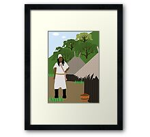 Indian tribe Kogi of Colombia  Framed Print