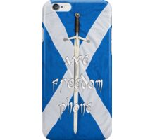 aye freedom phone..tae celebrate Bannockburn iPhone Case/Skin