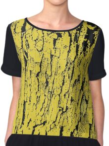 Old tree in yellow, pattern Chiffon Top