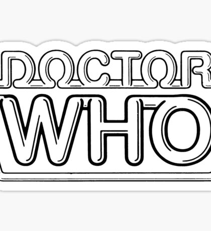 Doctor who original logo design Sticker