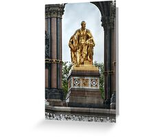 Statue of Prince Albert within the Albert Memorial Greeting Card