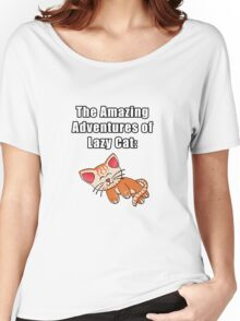 The Amazing Adventures of Lazy Cat Women's Relaxed Fit T-Shirt