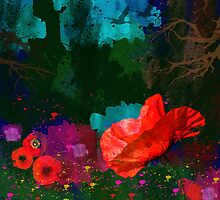 Summer evening poppies by walstraasart