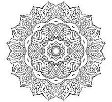 Coloring In Mandala Photographic Print