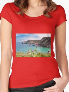 The North Cornwall Coast Women's Fitted Scoop T-Shirt