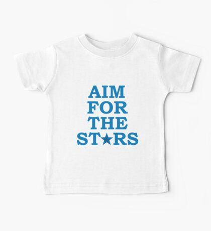 Aim for the Stars (Blue) Baby Tee