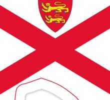 Flag Map of Jersey  Sticker