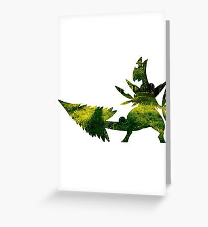 Mega Sceptile used Leaf Storm Greeting Card