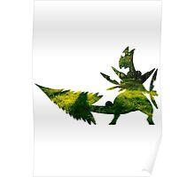 Mega Sceptile used Leaf Storm Poster