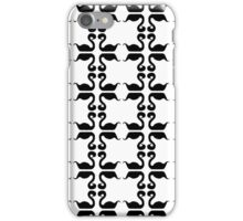 Squared swans iPhone Case/Skin