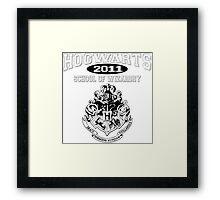 Hogwarts Leavers Design - Class of 2011 Framed Print