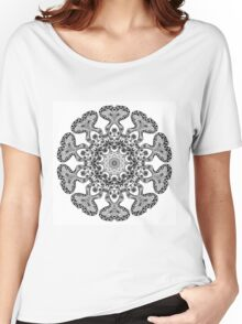 Coloring In Flower Mandala Women's Relaxed Fit T-Shirt