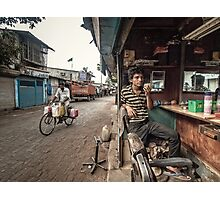 The Barber of Andheri Photographic Print