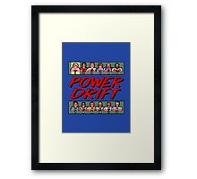 POWER DRIFT SEGA ARCADE Framed Print
