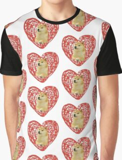 Heart doge Graphic T-Shirt