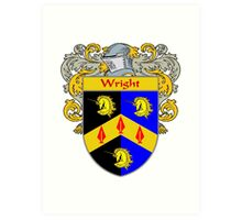 Wright Coat of Arms / Wright Family Crest Art Print