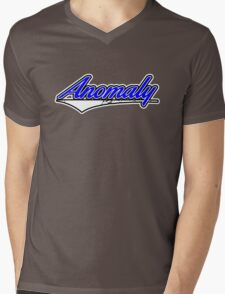 Anomaly Stripes Blue Mens V-Neck T-Shirt