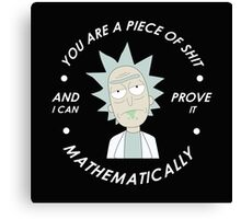 rick and morty mathematical Canvas Print