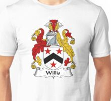 Willis Coat of Arms / Willis Family Crest Unisex T-Shirt